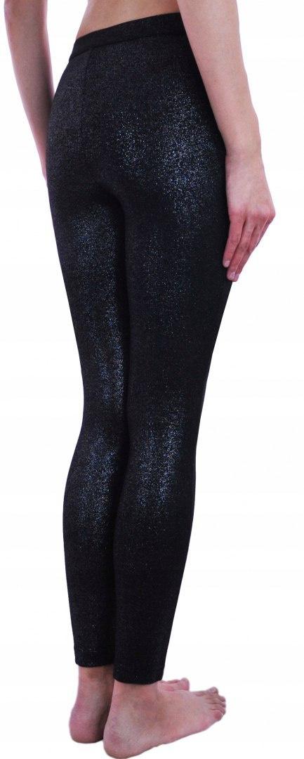 7583f91e979a48 CALZEDONIA spodnie czarne srebrna nitka XS CALZEDONIA spodnie czarne  srebrna nitka XS